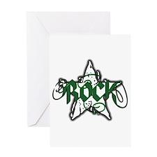 Rock Star (Distressed Green) Greeting Card