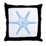 Flurry Snowflake III Throw Pillow