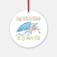 Angel Attitude 19th Ornament (Round)