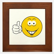 Thumbs Up Smiley Face Framed Tile