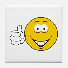 Thumbs Up Smiley Face Tile Coaster