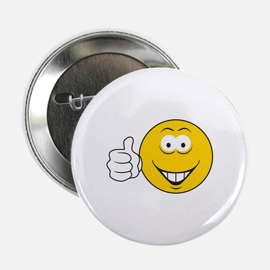 """Thumbs Up Smiley Face 2.25"""" Button"""