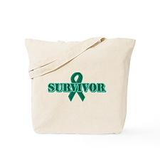 Green Ribbon Survivor Tote Bag