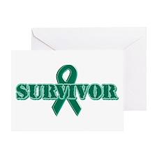 Green Ribbon Survivor Greeting Card