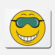 Cool Dude Smiley Face Mousepad