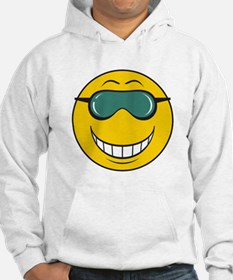 Cool Dude Smiley Face Hoodie