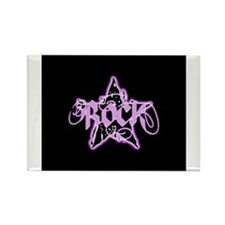 Rock Star (Distressed Pink) Rectangle Magnet
