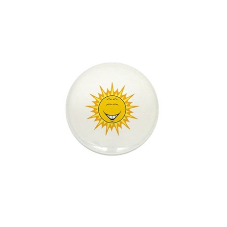 Sunshine Sun Smiley Face Mini Button (100 pack)