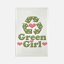 Green Girl Recycling Recycle Magnet 100 Pack