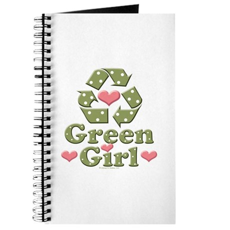 Green Girl Recycling Recycle Journal