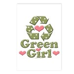 Green Girl Recycling Recycle Postcards 8 Pack
