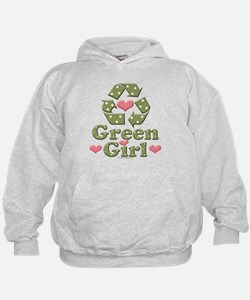 Green Girl Recycling Recycle Hoodie