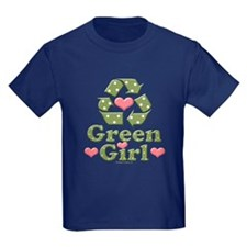 Green Girl Recycling Recycle T
