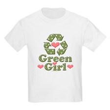 Green Girl Recycling Recycle T-Shirt