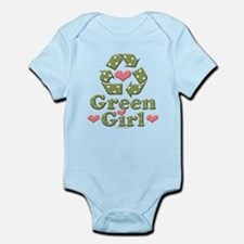 Green Girl Recycling Recycle Infant Onesie