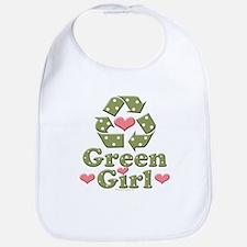 Green Girl Recycling Recycle Bib