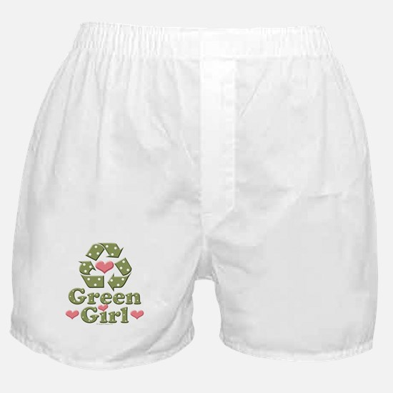 Green Girl Recycling Recycle Boxer Shorts