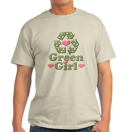 Green Girl Recycling Recycle Light T-Shirt