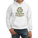 Green Girl Recycling Recycle Hooded Sweatshirt