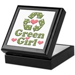 Green Girl Recycling Recycle Keepsake Box