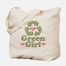 Green Girl Recycling Recycle Tote Bag