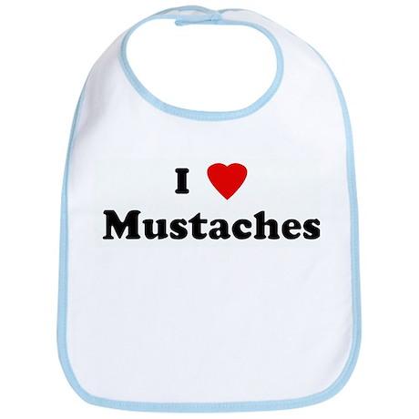 I Love Mustaches Bib