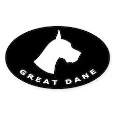 b&w great dane dog Oval Decal