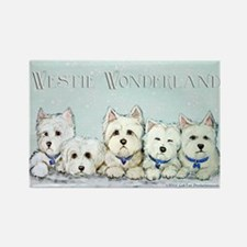 Westie Wonderland Rectangle Magnet