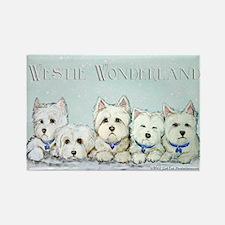 Westie Wonderland Rectangle Magnet (100 pack)