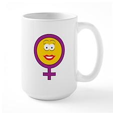 Female Symbol Smiley Face Mug