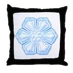 Flurry Snowflake II Throw Pillow