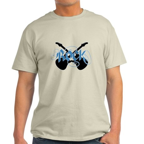 Rock (Crossed Guitars Blue) Light T-Shirt