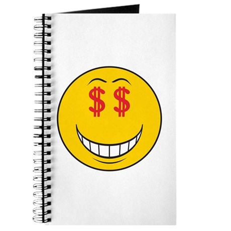 Money Eyes (Greedy) Smiley Face Journal
