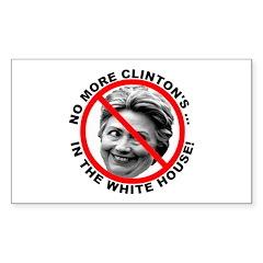 Anti-Hillary White House Rectangle Sticker 10 pk)