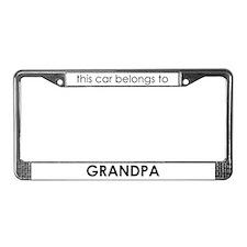 Grandpa's License Plate Frame