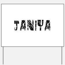 Janiya Faded (Black) Yard Sign
