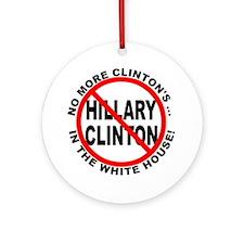 Anti-Hillary White House Ornament (Round)