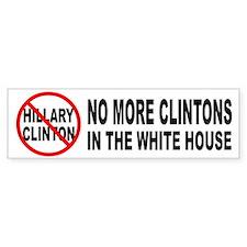 Anti-Hillary White House Bumper Car Sticker
