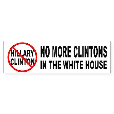 Anti-Hillary White House Bumper Sticker