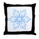 Flurry Snowflake I Throw Pillow