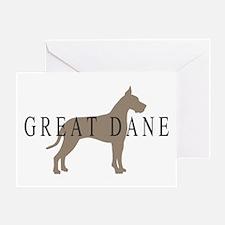 great dane greytones Greeting Card