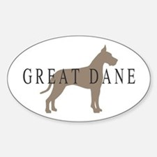 great dane greytones Oval Decal