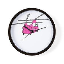 CH-47 Pink Wall Clock