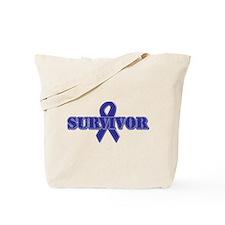 Purple Ribbon Survivor Tote Bag
