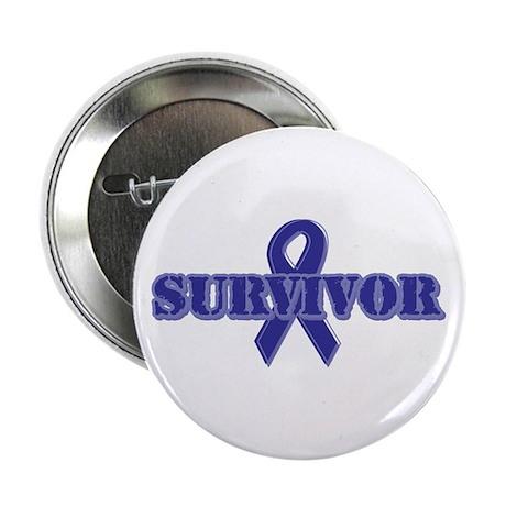 """Purple Ribbon Survivor 2.25"""" Button (100 pack)"""