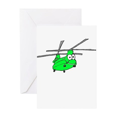 CH-47 Green Greeting Card