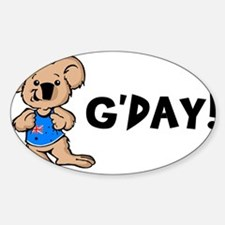 Australian Koala G'Day Rectangle Decal