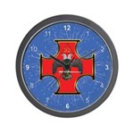 Masonic Maltese Cross 32 Wall Clock