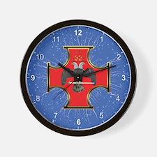 Masonic Maltese Cross 32 Wall Clock