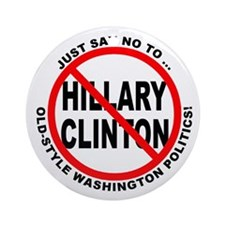 Anti-Hillary Old Politics Ornament (Round)